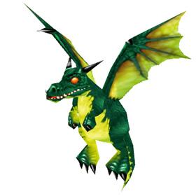 Маленький изумрудный дракончик