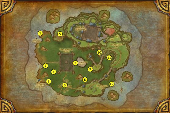 Вневременные святыни на карте Вневременного острова