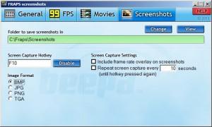 Вкладка Screenshots