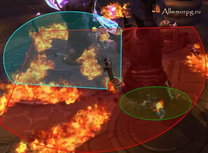 Стоя, в зеленое зоне, игрокам потребуется уклоняться от урона от одного оружия.