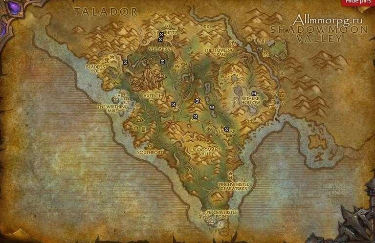 Карта элитных мобов