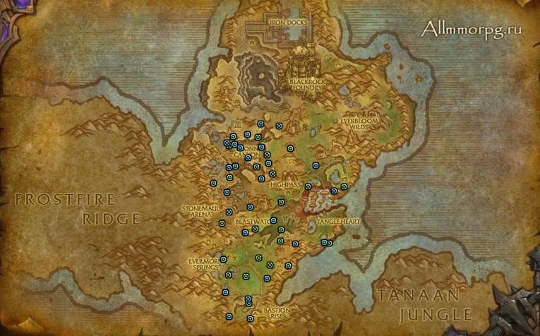 Карта ресурсов для гарнизона
