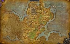 Карта появления Тарлны Нестареющего