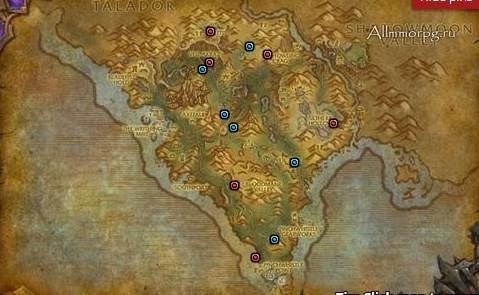 Карта святилищ и эликсиров в Шпилях Арака