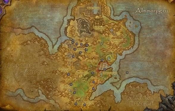 Карта сундуков с сокровищами Горгронда