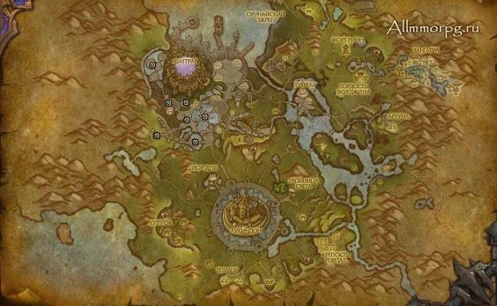 Карта рарников для достижения