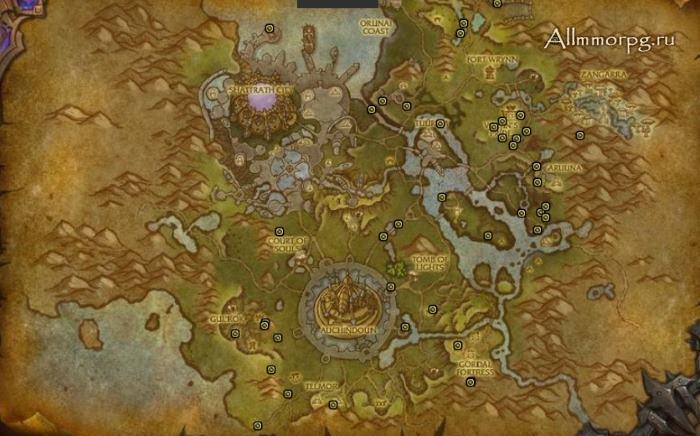 Карта сокровищ Таладора