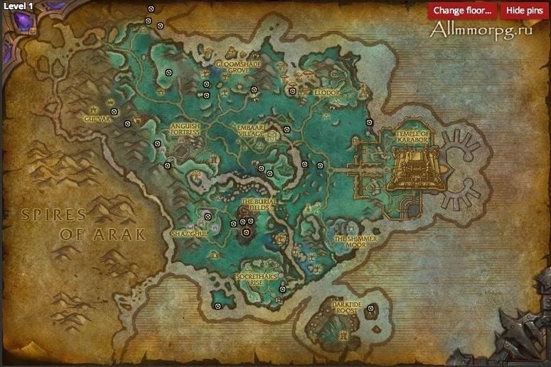 Карта сокровищ Долины Призрачной луны