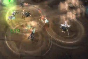 Дробление наносит урон всем игрокам рядом с целью