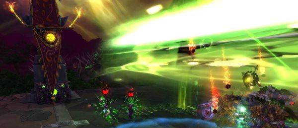 Урон от Точечного взрыва делится между всеми игроками, которые стоят на линии огня