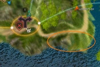 Вход на карте