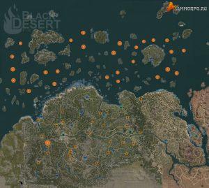 Карта мест для охоты