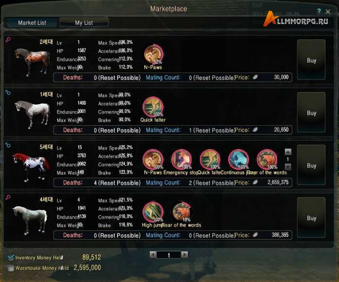 Рынок лошадей