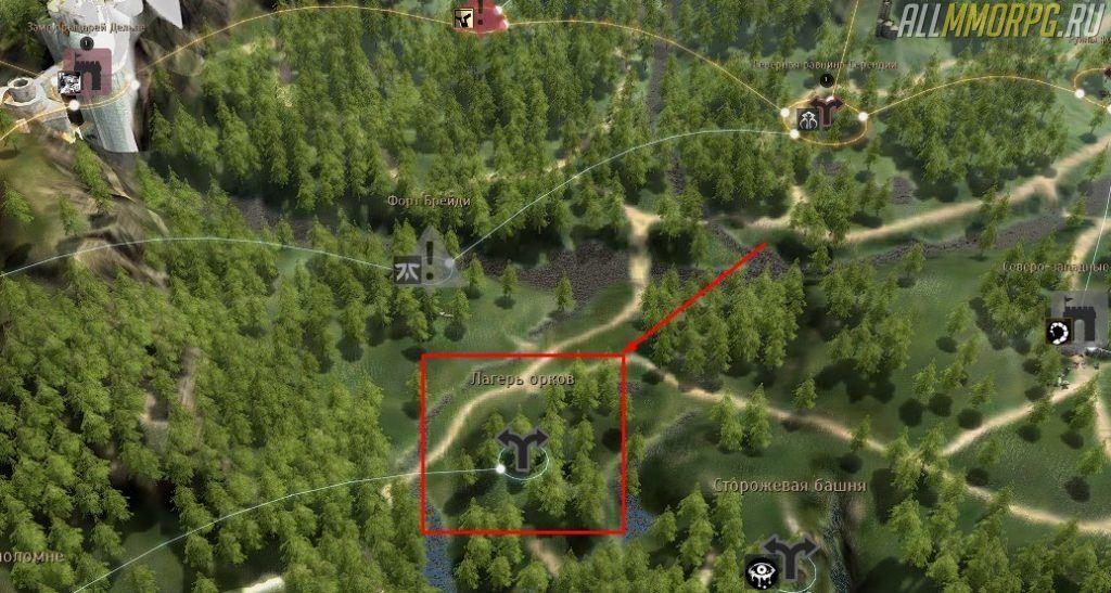 Уровень 28 – 34: Лагерь орков