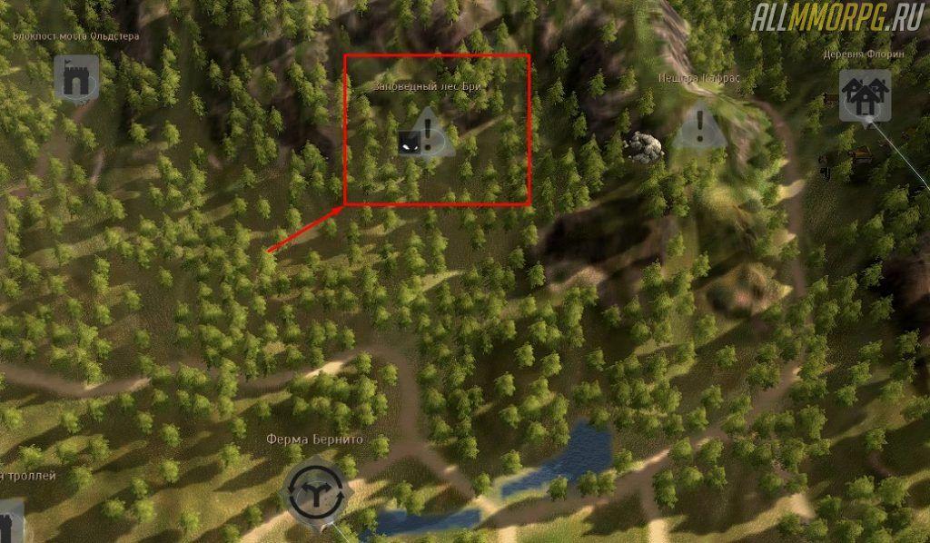 Уровень 38 – 42: Заповедный лес Бри