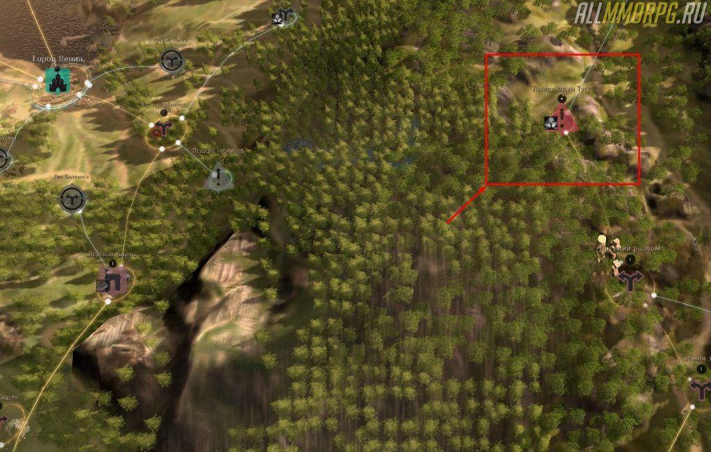 Уровень 50 – 54: Лагерь клана Тугу