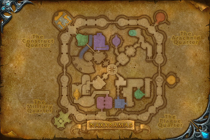 Где на карте находится наксрамас