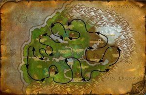 Предгорья Хилсбрада Карта