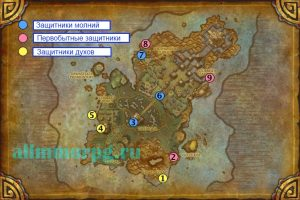 Карта боссов Острова Грома