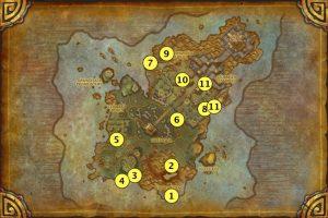 Карта редких мобов Острова Грома