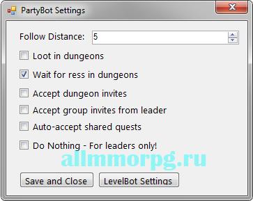 настройка Partybot