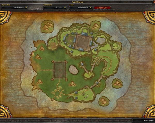 Карта Вневременного Острова