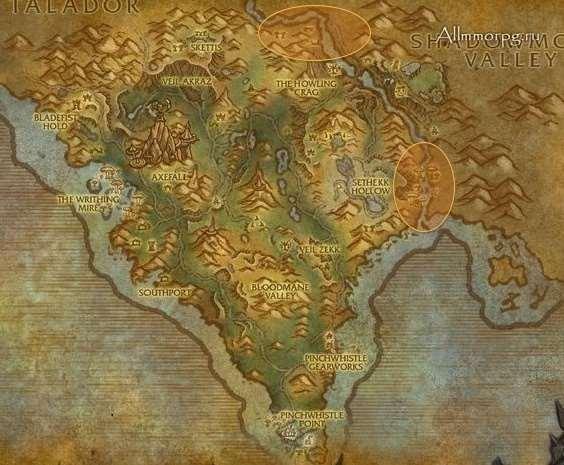 Карта мобов