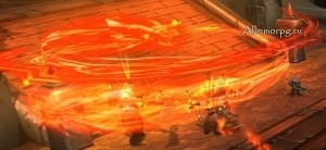 Огненный взмах наносит фатальный урон
