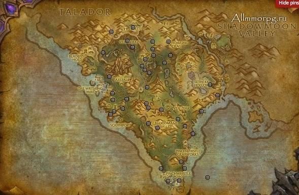 Карта сокровищ в Шпилях Арака