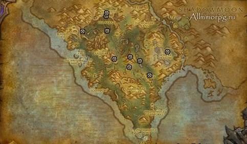 Карта сундуков