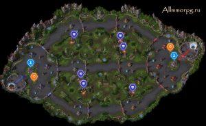 Карта Сад ужасов