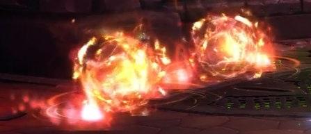Натиск карателя призывает два Ревущих пламени