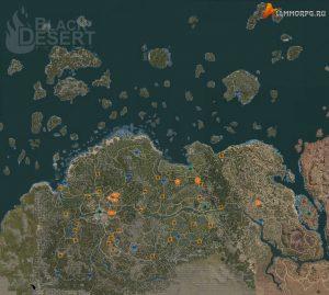 Карта мест для фарма травы