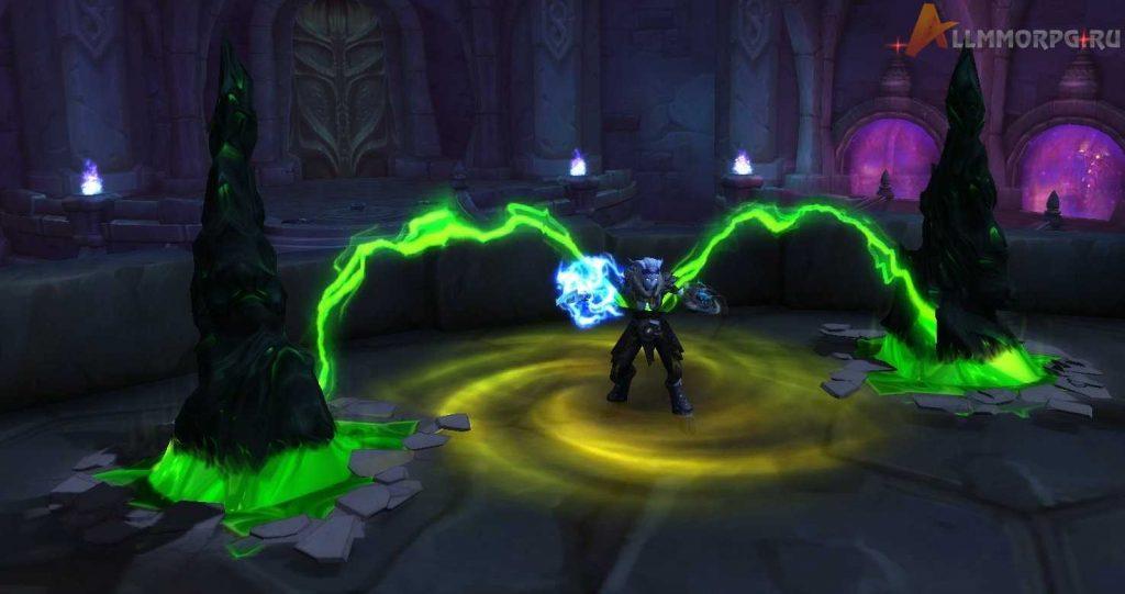 Казнь запирает игрока между двумя Стазисными кристаллами